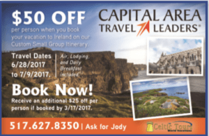 Capital Area Travel Leaders Coupon