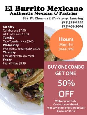 El Burrito Coupon